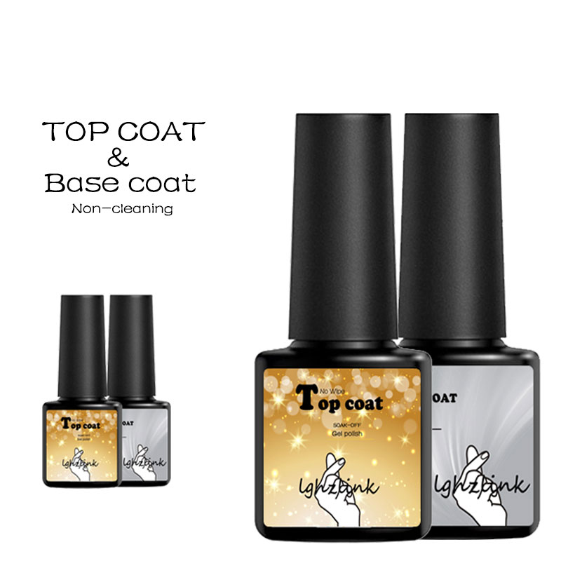 Gel Nail Polish Sale: Lghzlink Base And Top Primer For Nails Gel Varnish Set Gel