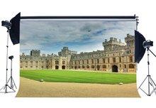 Marthas zamek tło europejskiej Archiculture pałac tła Royal hrabstwa zielony trawa tło