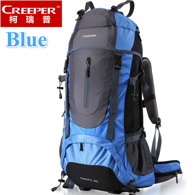 Creeper Free Shipping 60L Professional Waterproof Rucksack Internal Frame Climbing Camping Hiking Backpack Mountaineering Bag free shipping professional waterproof rucksack internal frame climbing camping hiking backpack mountaineering bag 60l