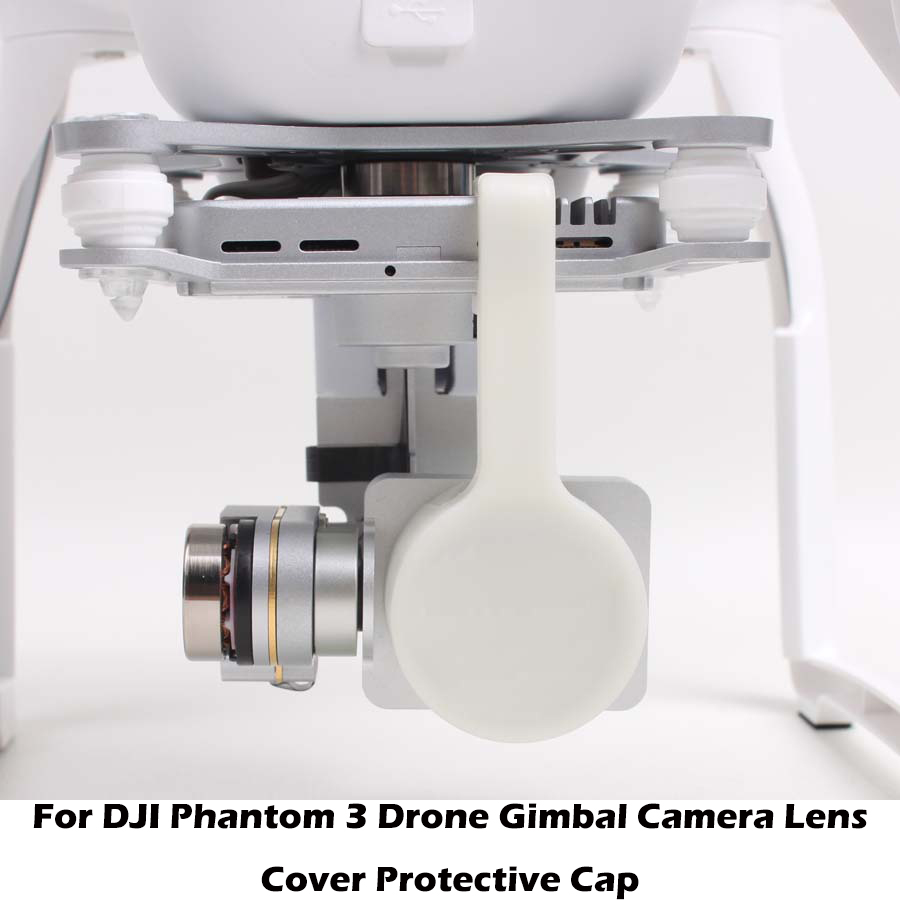 US $1 25 41% OFF|For DJI Phantom 3 Pro Camera Lens Cap Protector with  Gimbal Stabler Lock for Phantom3 Drone Gimbal Cam Protective Case Shell-in