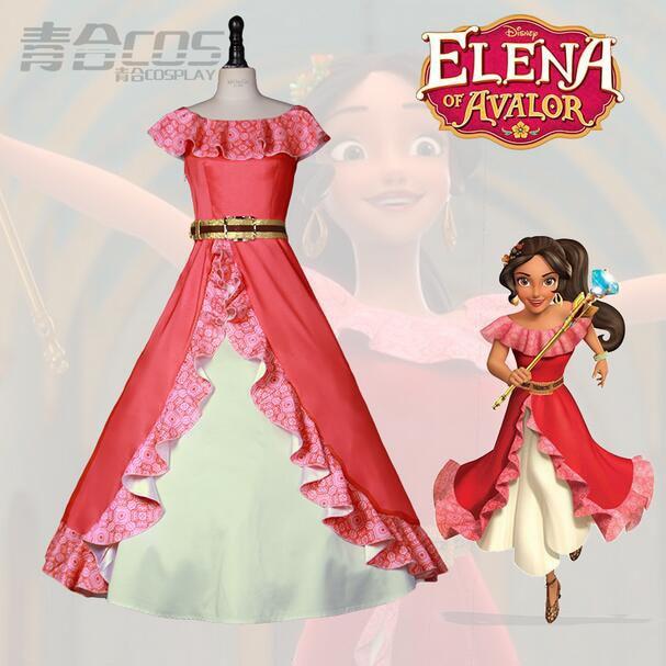 2017 Nueva Llegada Elena de Avalor Elena Princesa Vestido de Disfraz - Disfraces