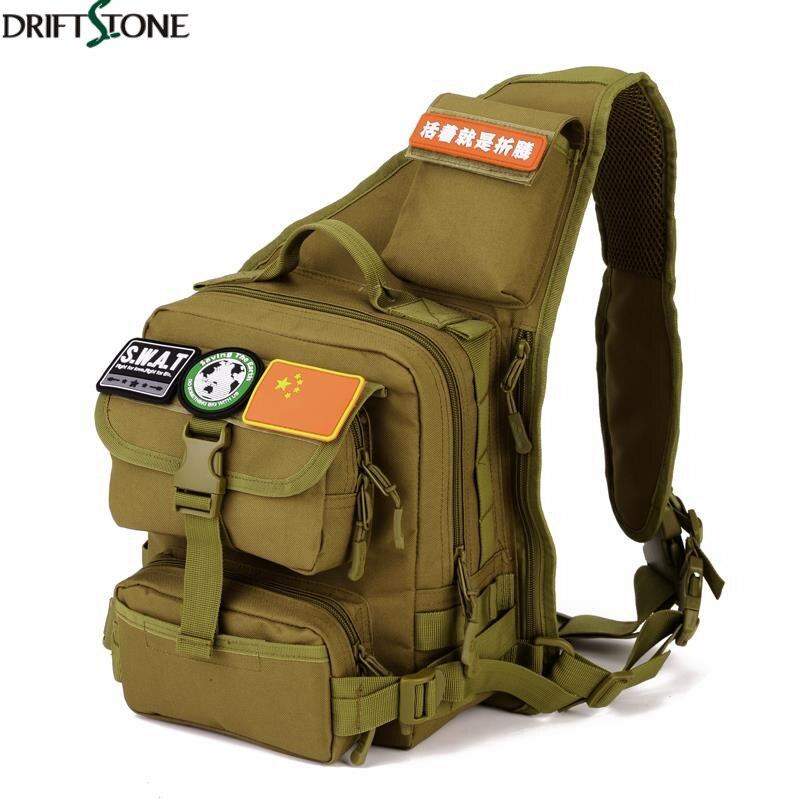 Sac de poitrine simple d'épaule de Sport en plein air escalade sac tactique en Nylon Camping sac à dos militaire sacs d'armée - 5