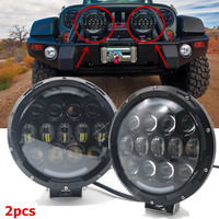 Car Accessories 105W 7 Inch Led Work Light Round Auto 12V 24V Offroad 4WD 4x4 Truck Trailer Front Bumper Hi Low Headlight 2pcs
