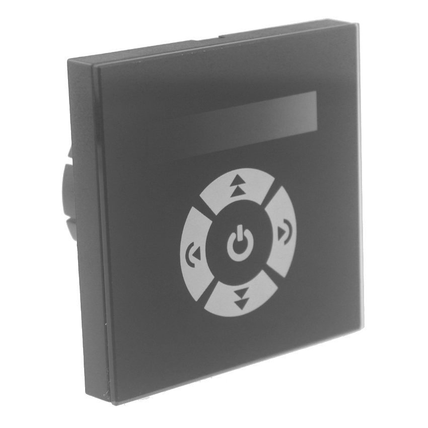 EU standar sentuh led dimmer 220 v panel kaca 0-10v dimmer switch pengontrol output 0-10v kontrol sinyal dipimpin lampu