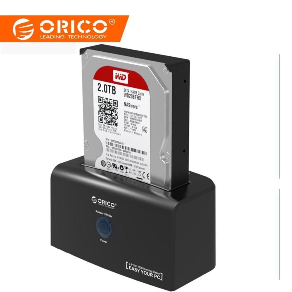 ORICO station d'accueil pour disque dur eSATA et USB 3.0 Disque Dur D'accueil pour 2.5/3.5 pouces HDD 12V2. 5A adaptateur secteur 8 TO de Soutien