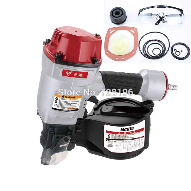 Quality CN70 Pneumatic Coil Roofing Nailer Air Nailing Gun Coil Nailer Air Nailer Tool bostitch n80cb 1 nose part nuzzle unit nailer spareparts for pneumatic nail gun air coil nailer max senco pal100