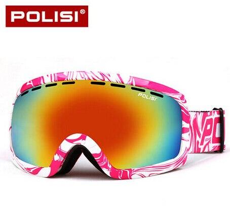 Prix pour POLISI Hiver Anti-Brouillard Motoneige Lunettes UV400 Double Couche Anti-Brouillard Gris Objectif Lunettes de Ski de Neige Snowboard De Protection lunettes