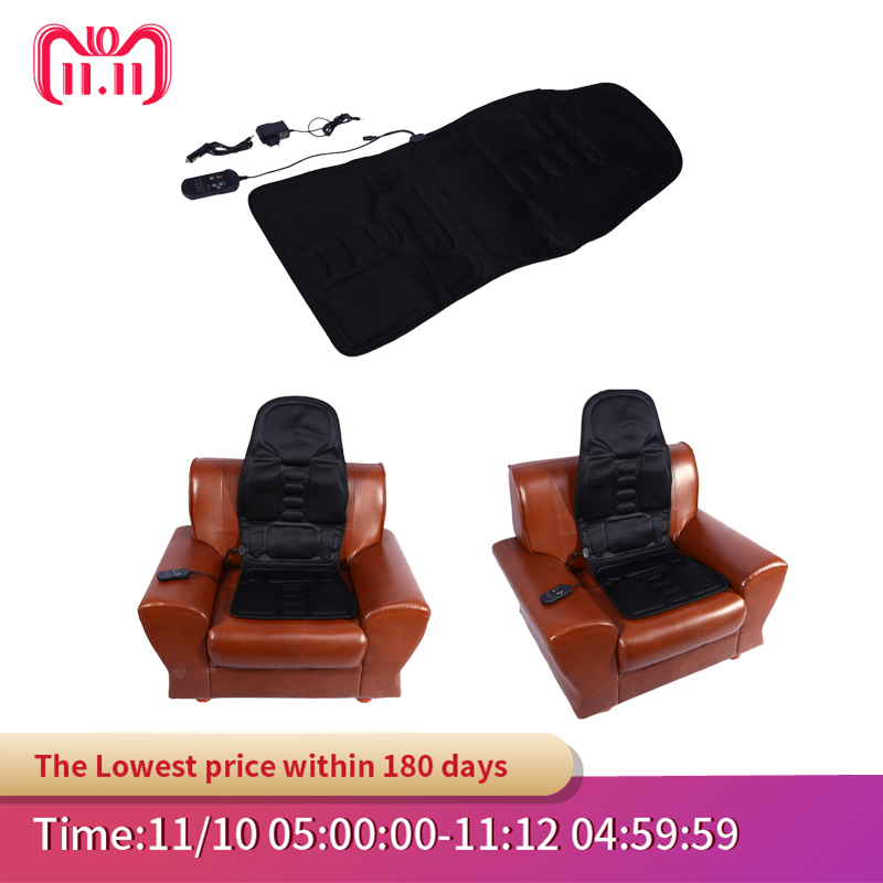 Interior Accessories Bright Chair Massage Electric Car Seat Vibrator Back Neck Massagem Cushion Heat Pad For Legs Waist Body Massageador