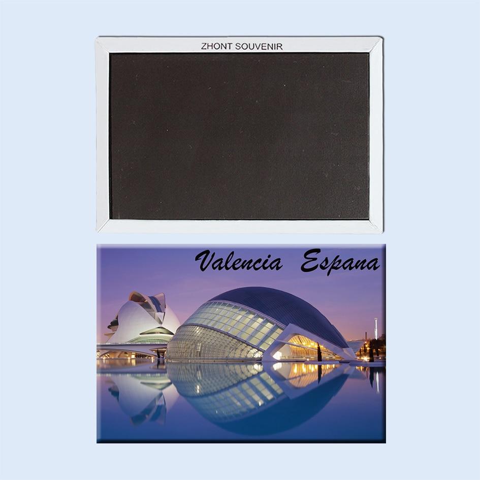 Spanyolország valencia lhemisfric 22608 Tájkép Mágneses hűtőszekrény ajándékok barátoknak Utazási ajándéktárgyak