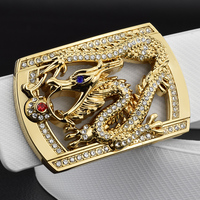 Fashion Dragon Buckle Designer Belts Men High Quality Luxury Brand Gold Belt Genuine Leather Waist Strap