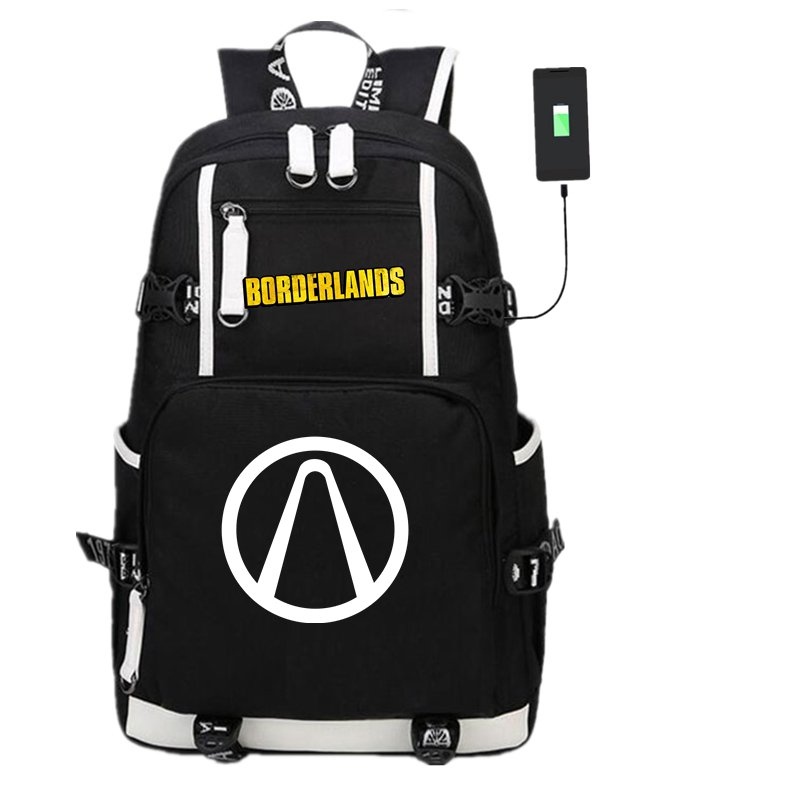 Bags School-Backpack Borderlands Interface Shoulder-Bag Laptop Travel Gift Casual Usb-Charge