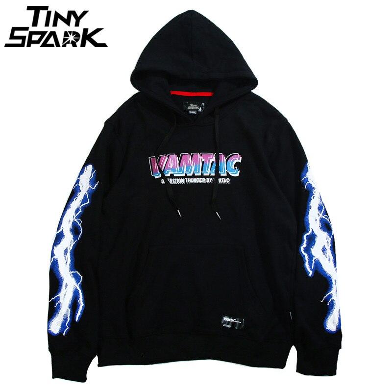 Hip Hop Men Hoodie Sweatshirt Cool Ligtn