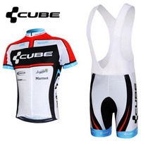 2017 NEW CUBE Team Bike Wear Set Summer Short Sleeve Cycling Jerseys Ropa Ciclismo Bicycle Clothing