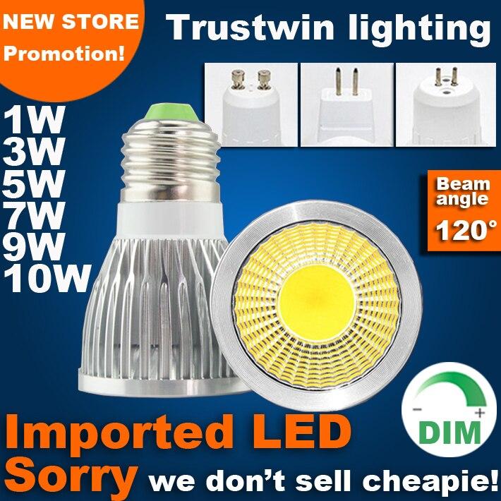 Dimmable Led Cob Spotlight E26 E27 Gu10 Gu5 3 Mr16 6w 9w: 3 Years Warranty 110V 220V 12V Edison Bulb PAR16 MR11 E14