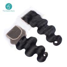 Brazilian Virgin Hair Body Wave 4x4 Free Part Lace closure Human Body wave Human Hair Closure