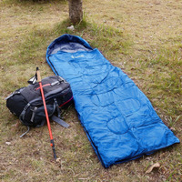 Men Women Outdoor Camping Envelope Sleeping Bag Comfort Warm Cozy Hiking Hooded Sleeping Bag With Storage