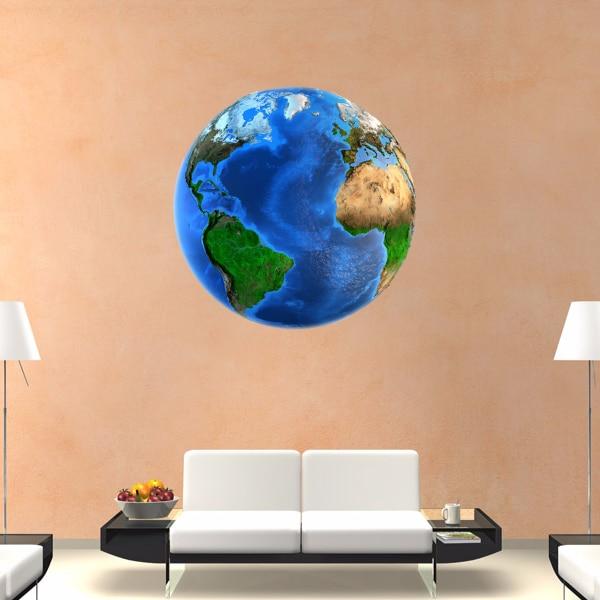 Global DIY Earth Sticker DIY Cartoon Wedding Decor Vinyl Waterproof Wall Sticker Baby Room Tapeta Wall Decal