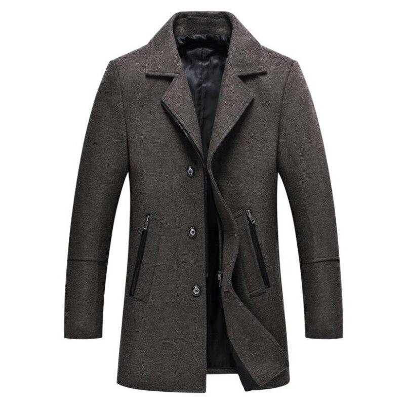 100% Wahr Herbst Und Winter Neue Männer Wolle Mantel Business Casual Einfarbig Schlank Mantel Zu Halten Warme Jacke SorgfäLtig AusgewäHlte Materialien