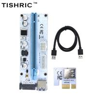 10pcs TISHRIC VER008S 3 In 1 Molex 4Pin SATA 6PIN PCIE PCI E PCI Express Riser