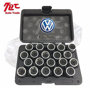 Made in Taiwan 20PCS Tire Anti-theft Screw Disassembly Tool Key Sleeve for VW