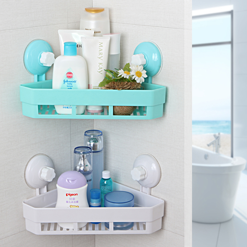 Wall mounted type washroom plastic storage holders wall shelf kitchen organizer decorative wall shelves sponge holder in storage holders racks from home