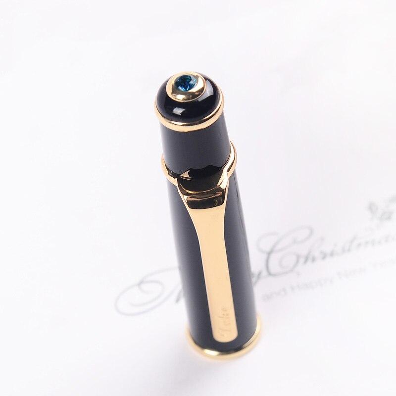 Haut de gamme Duke 0.5mm plume Fine stylo plume encre sertie de EF 0.38mm plume et boîte originale bleu gemme métal cadeau stylos pour femmes - 4