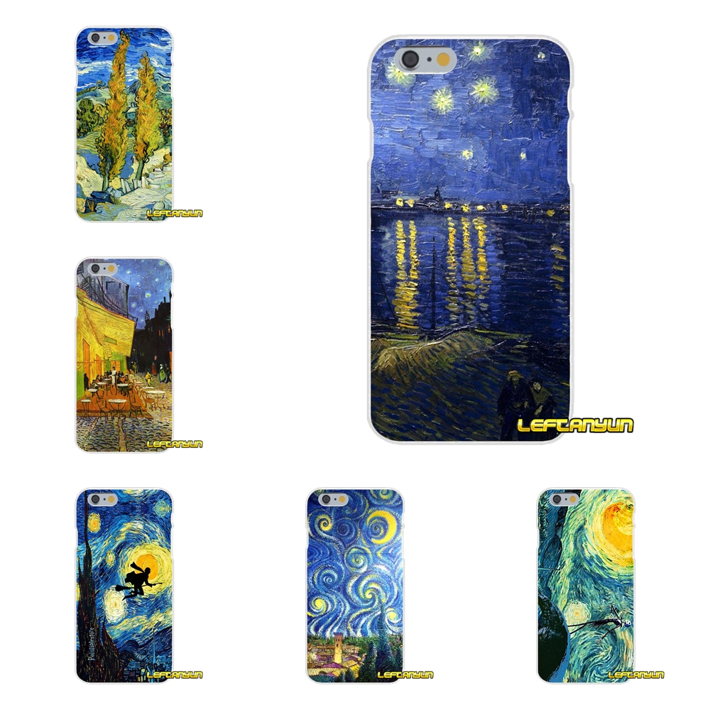 For Huawei G7 P8 P9 p10 Lite 2017 Honor 5X 5C 6X Mate 7 8 9 Y3 Y5 Y6 II Vincent Van Gogh Starry Sky Oil Soft Phone Case Silicone ...