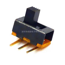 10Pcs 5mm High Knob 3 Pin 2 Position SPDT Right Angle Slide Switch SS12F21G5