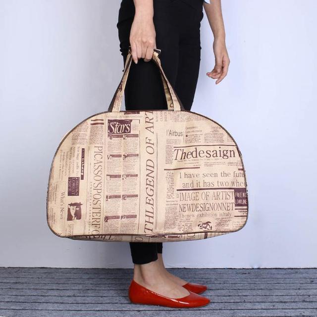 Nueva Moda Mujer Hombre Satchel Bag Tote Tela Oxford bolsa de Viaje Bolso Del Hombro