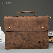 New PU Leather Ultra Thin Briefcase Men's Bag Portfolio Bolsa Masculina Business File Pocket Office Staff Work Bag Thin Reticule