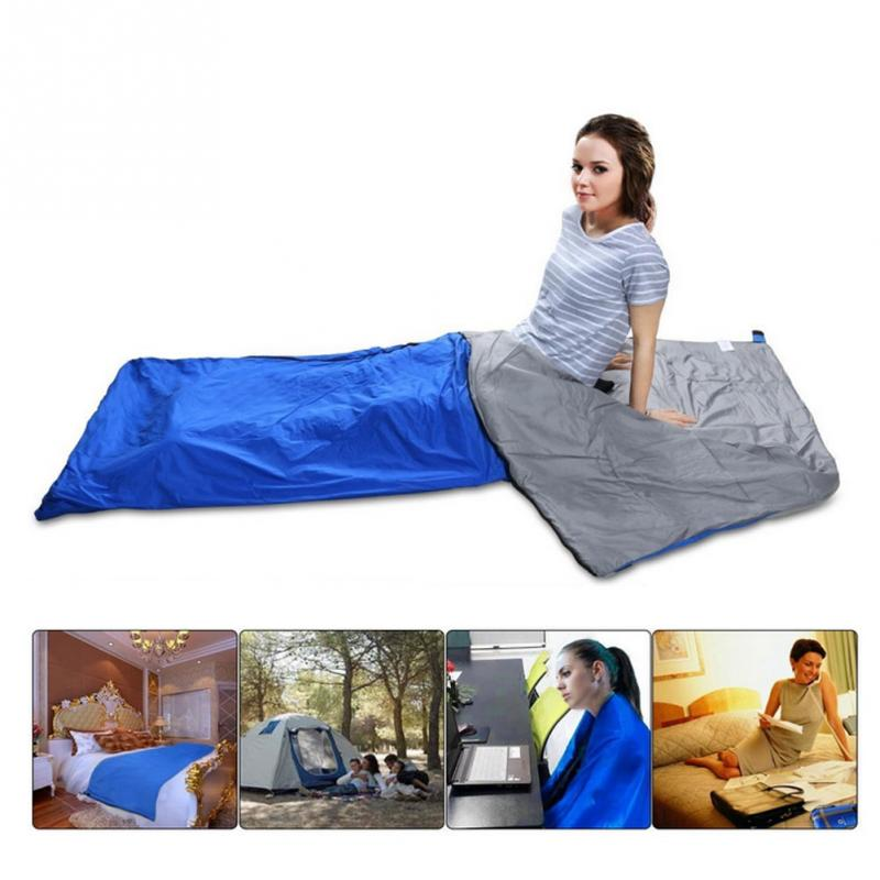 Portable Emergency Nylon Outdoor Sleeping Bag Easy Splices Liner TC Cotton Sleeping Bag for Camping Travel Hiking