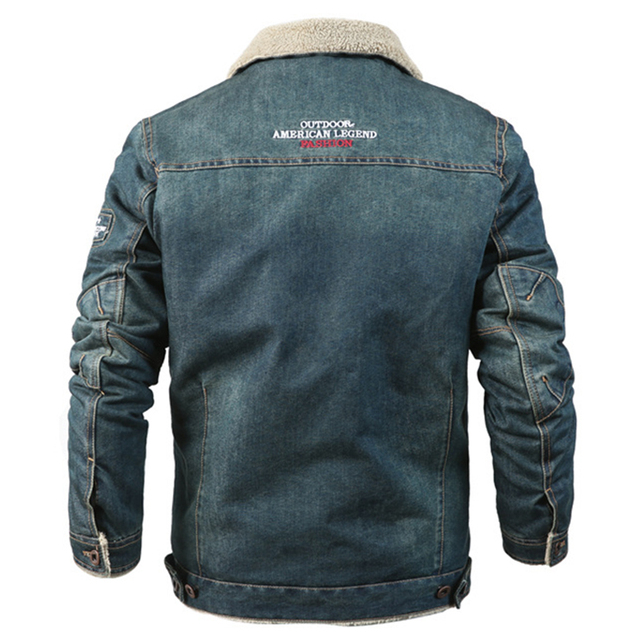 MAGCOMSEN Mens Jackets Winter Warm Demin Jacket Thicken Vintage Jeans Coat for Men Outwear Clothing Plus Size 6XL AG-MG-01 1