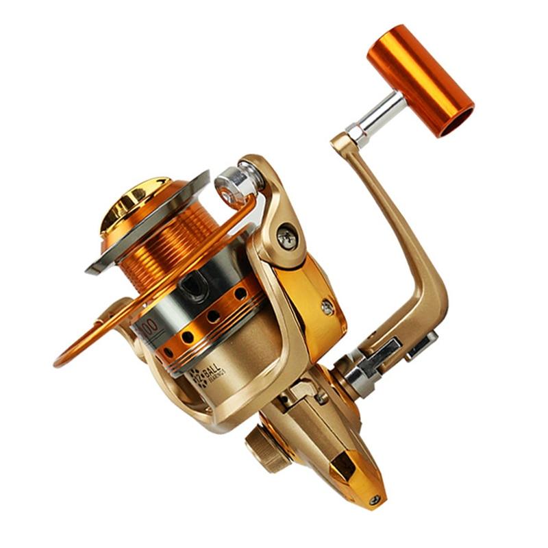 Aukštos kokybės visiškai metalinės vielos puodeliai 12 BB rotaciniai ritės Žvejybos ritės Visi metaliniai svirčiai 1000-9000 serija Žvejybos ritės