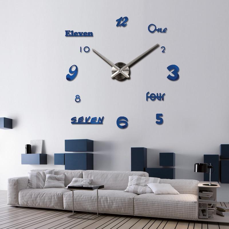 2019 neue wanduhr acryl spiegel uhren reloj de pared quarzuhr horloge - Wohnkultur - Foto 4