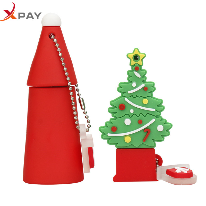 Image 4 - usb flash drive Silicone 128GB pendrive 32gb 2.0 usb stick creativos Santa Claus pen drive 64GB 8GB 4GB Christmas Series cle usb-in USB Flash Drives from Computer & Office