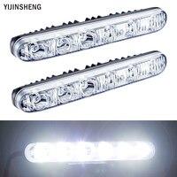2 PCS 12v 6 LED Daytime Running Light Waterproof Universal DRL Kit Day Light Auto Driving