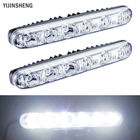 2 PCS 12v 6 LED Daytime Running Light Waterproof Universal DRL Kit Day Light Auto Driving