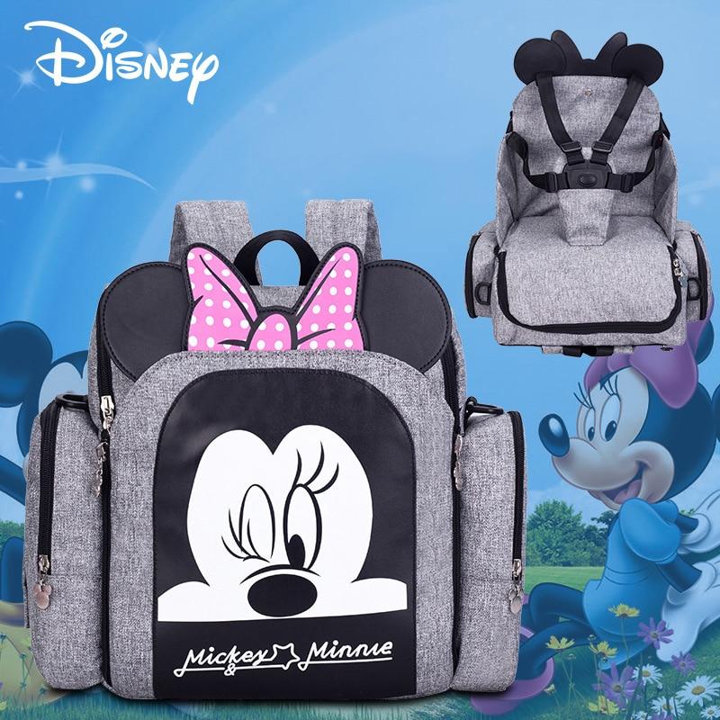 Disney Dining Chair Bag Multifunctional Diaper Bag 2018 New Stlye Waterproof Mother Handbag Nappy Backpack Travel
