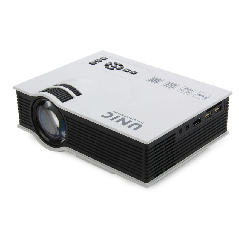 UNIC UC40 Plus LED Mini Projector Full HD 1080P 800 lumen Home Theater Beamer Proyector with HDMI AV SD VGA unic p1 p1h dlp projector 30 ansi lumen mini tiny handheld pocket proyector built in battery home cinema theater beamer usb tf