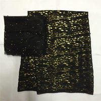 High quality silk fabric for lady dress embroidered george silk fabric African metallic silk fabric 5+2yards ! L30838