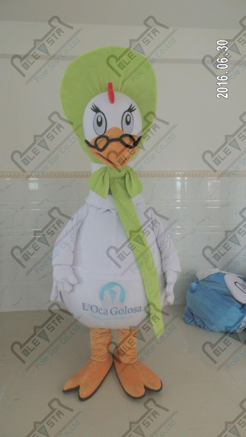 Cool fan oie de mascotte costumes costumes de canard EVA tête qualité oiseaux animaux costumes