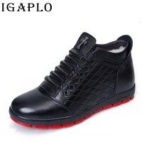 Mùa đông khởi động Dưới khởi động đầu gối shoes men nam giản dị chính hãng leather đùi cao cộng với len nhung cao ngọn giày Nam size45