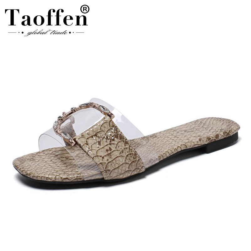 TAOFFEN Women Casual Daily Spring Sandals Ladies Club Summer Vacation Beach Flats Shoes Women Metal Buckle Fashion Size 34-43TAOFFEN Women Casual Daily Spring Sandals Ladies Club Summer Vacation Beach Flats Shoes Women Metal Buckle Fashion Size 34-43