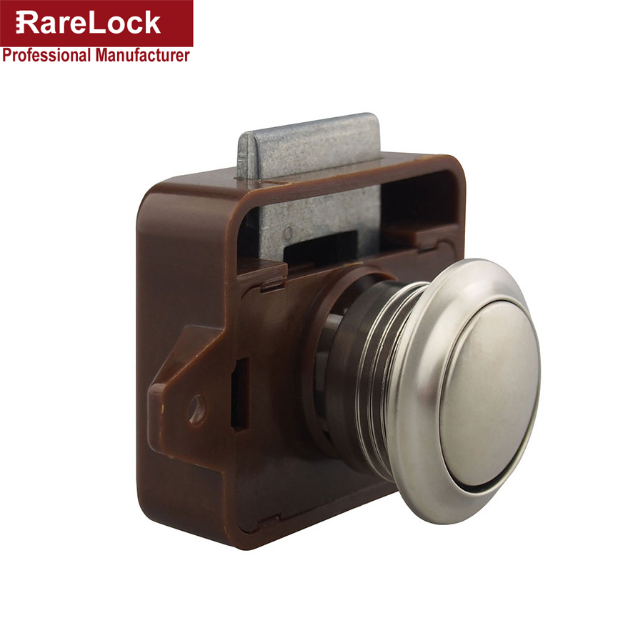 Rarelock 5pcs/lot ABS Push Button Catch Locks Cupboard Door Knob Campervan Caravan Motorhome RV Cabinet Drawer Push Lock a
