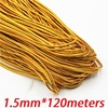 1 5mm Golden Elastic Bungee String Cord Round Twisted String Rope 120 Meters Roll DIY Cords