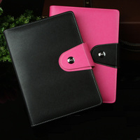 Gift 2015 Planner Organizer Agenda Leather Diary Spiral Notebook Paper A5 Notepad Office School Supplies Notebooks