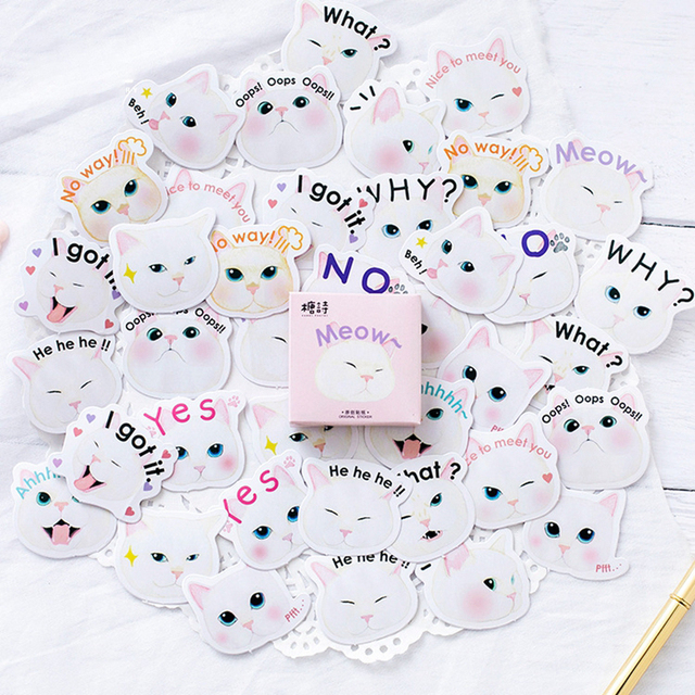 45pcs/lot Lovely Cat Princess Scrapbooking Sticker Child Toy Stickers Planner Diy Decorative Sticker Stationery Kids Gift