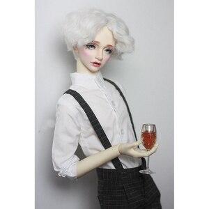 """Image 4 - BJD Puppe Weißes Hemd Outfits Top Kleidung Für Männliche 1/4 1/3 SD17 70 cm 17 """"24"""" Hoch BJD puppe MSD SD DK DZ AOD DD Puppe verwenden HEDUOEP"""