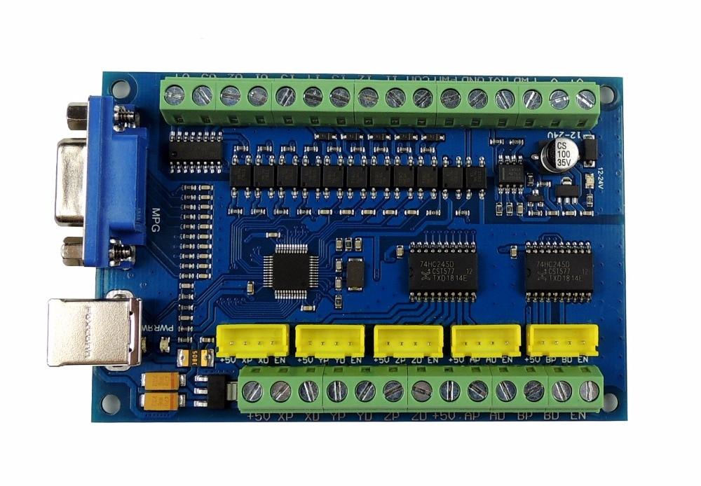 Actualización CNC MACH3 USB 5 eje 100 KHz USBCNC suave paso a paso controlador de movimiento tarjeta Placa de adaptación para CNC grabado 12 -24 V - 3