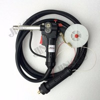 MIG Spool Gun Push Pull Feeder Aluminum Welding Torch NBC 200 180A with 3 Meters Cable and Euro Adpator